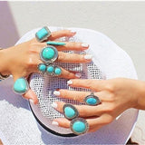 Bohemian Rings for Women Promise Rings Fashion Jewelry Vintage Jewelry Rings
