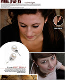 Earrings for Women 8MM Simulated Pearl Earrings Fashion Jewelry Vintage Jewelry