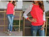 Womens Tops Long Sleeve Lace Blouse Shirts for Women Ladies Top Casual Tunic Top