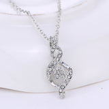 CZ Diamond Necklace Necklaces for Women Rhodium Plated Gold Chain Bridal Jewelry