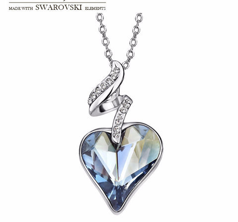 Made with Swarovski Crystal Jewelry Platinum Plated Gold Chain Necklaces for Women