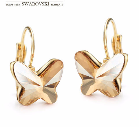 Made with Swarovski Elements Crystal Earrings Gold Earrings Earrings for Women