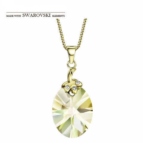 Made with Swarovski Crystal Jewelry Plated Gold Necklace Necklaces for Women