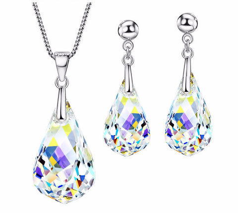 Made with Swarovski Crystal Earrings Earrings for Women Bridal Jewelry Pendant Necklace