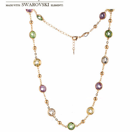 Made with Swarovski Crystal Jewelry Gold Chain Bridal Jewelry Necklaces for Women