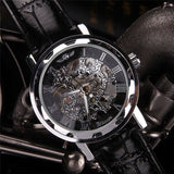 Wrist Watches Men Dial Skeleton Leather Mechanical Men Watches Watches for Men
