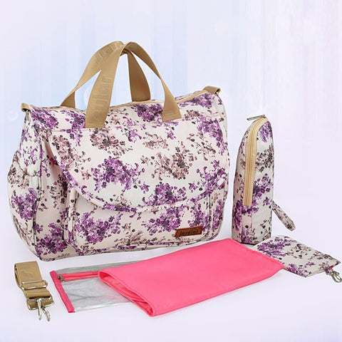 Floral Designer Mommy Diaper Bags Backpack Diaper Stroller Baby Diaper Bag Baby