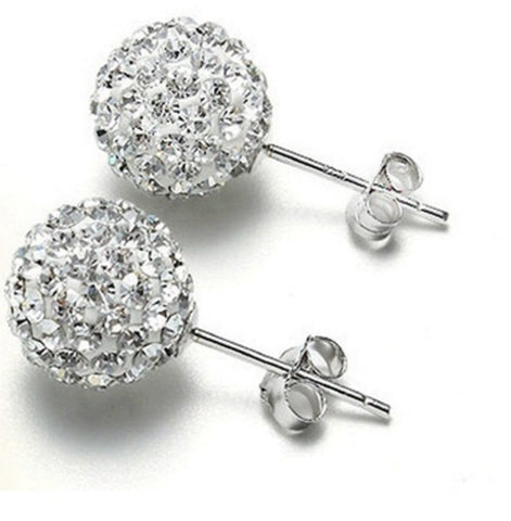 CZ Diamond Stud Earrings Bridal Jewelry CZ Diamond Earrings for Women