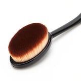 Oval Makeup Brush Foundation BB Cream Base Powder Puff Blusher Cosmetic Brush
