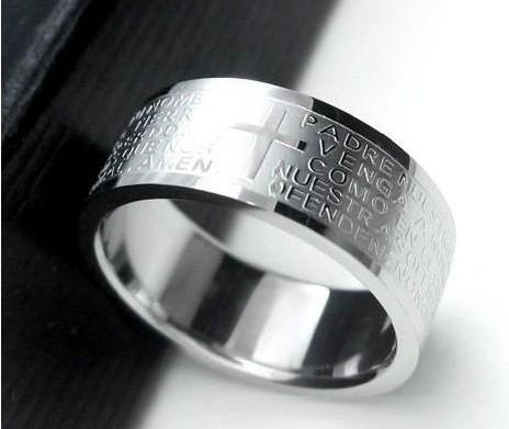 Titanium Cross Rings Rings for Men Christian Rings Wedding Bands Promise Rings