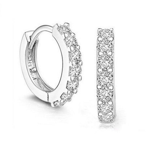CZ Diamond Stud Earrings Bridal Jewelry Earrings for Women Cubic Zirconia Earrings
