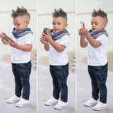 2pcs Boy Clothes Demin Baby Boy Dress Clothes Jeans Toddler Dress Clothing Boy Polo Shirts Toddler Boy Swag Clothes Baby Boy Clothing