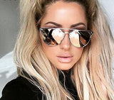 Cat Eye Sunglasses Metal Eyeglasses Sunglasses for Women Designer Sunglasses