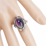 Fashion Jewelry Vintage Jewelry Crystal Color Change Mood Ring Rings for Women