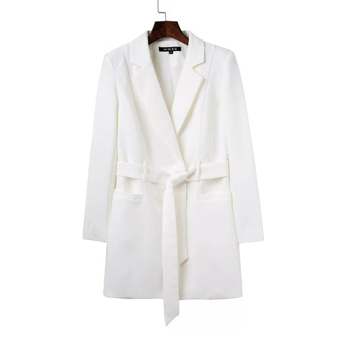 Coat Jacket Blazers for Women Ladies Blazer Blazer Jacket White Blazer Coat Belt