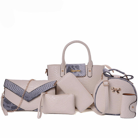 6pcs Designer Handbags Sale Cross Body Bag Quality Tote Bags Handbags for Women