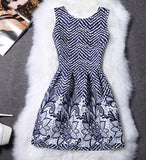 Dresses Print Floral Vest Dress Womens Dresses Sleeveless A Line Party Fashion