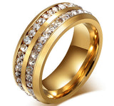 Black Cubic Zirconia Rings Titanium Rings for Men Promise Rings Wedding Bands