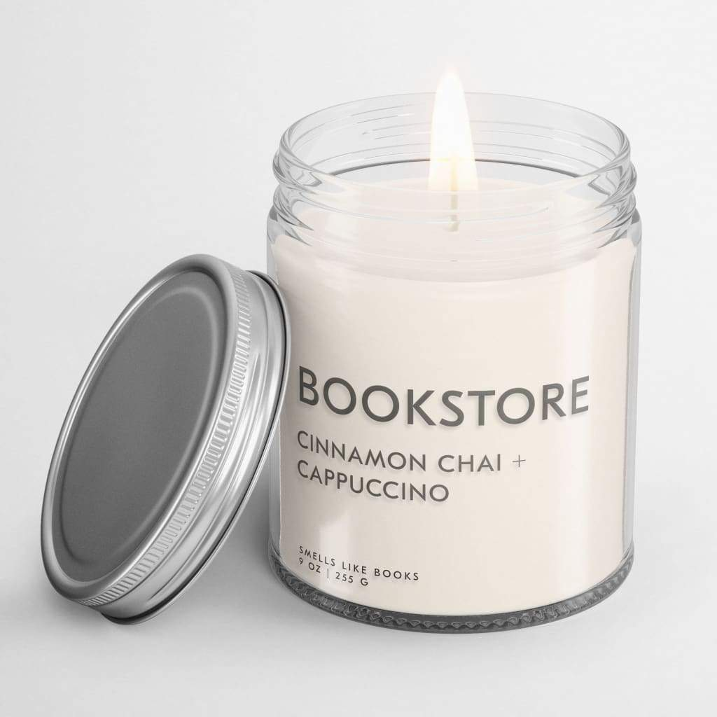 BOOKSTORE | book inspired scent book scented soy candle best gifts for book lovers, bestseller, book candle, book candles, book club gifts