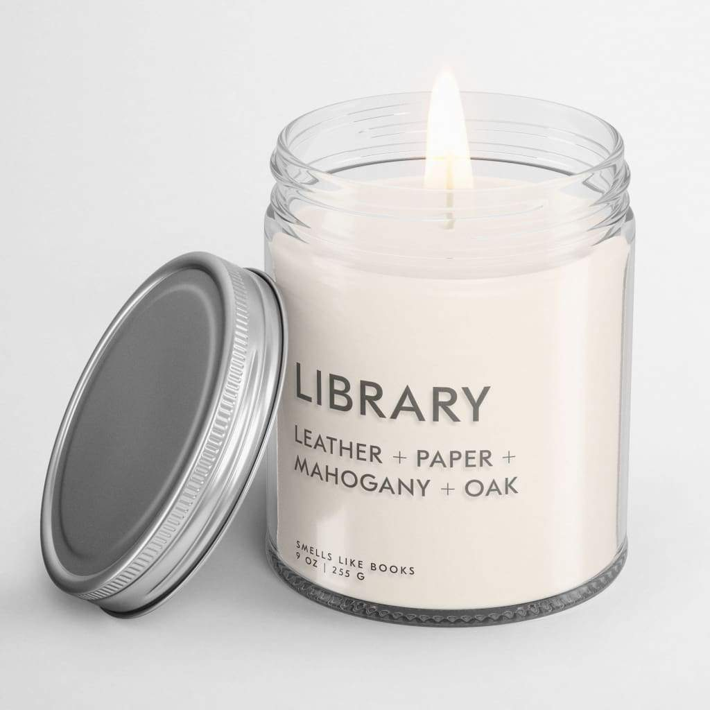 LIBRARY | book inspired scent book scented soy candle best gifts for book lovers, bestseller, book candle, book candles, book club gifts