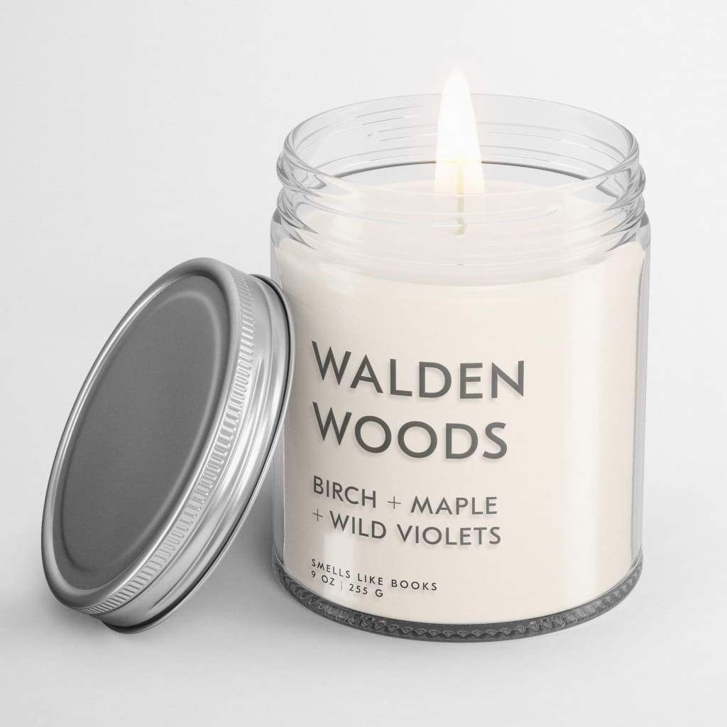 WALDEN WOODS | book inspired scent book scented soy candle best gifts for book lovers, book candle, book candles, book club gifts, book