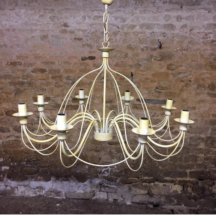 Eight arm Provencal Chandelier
