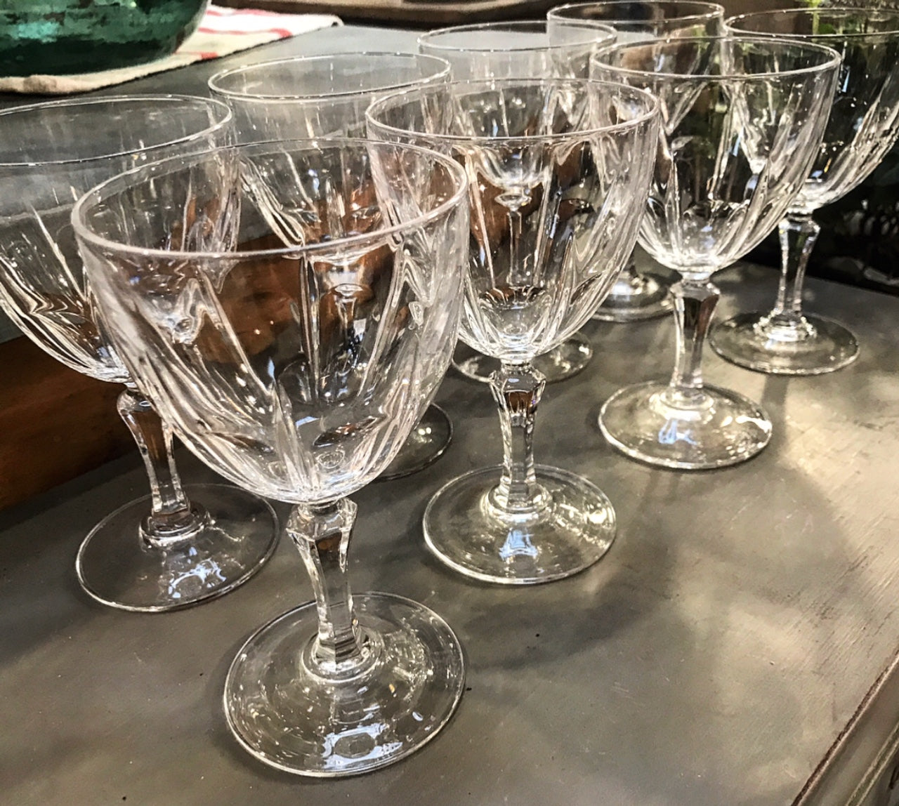 Late 19th century French Crystal Glasses