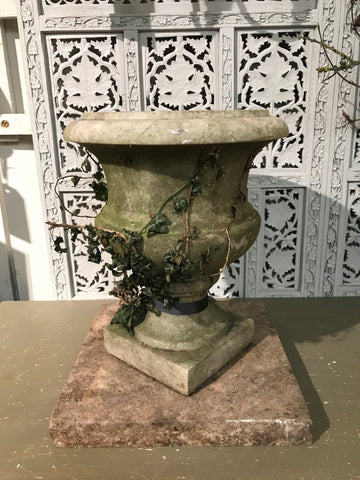 19th century weathered French Marble Urn.