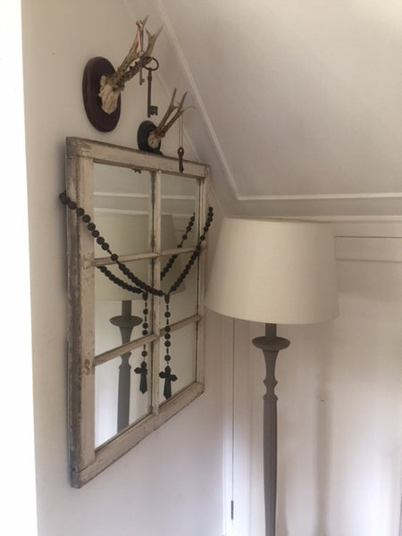 1950's American Mirrored Window Frame.