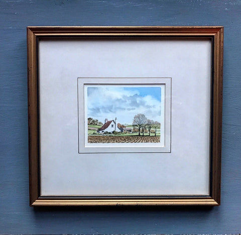 Original signed watercolour of Cornish Cottage.