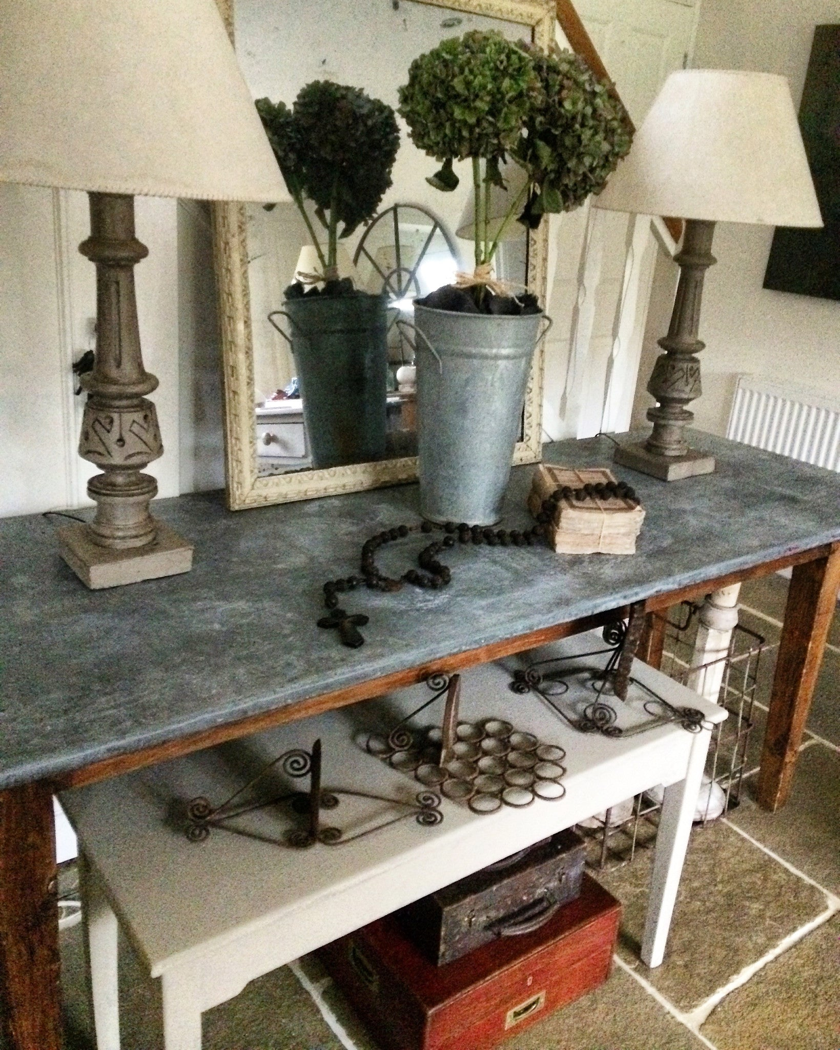 Early 19th century French Scullery Table.