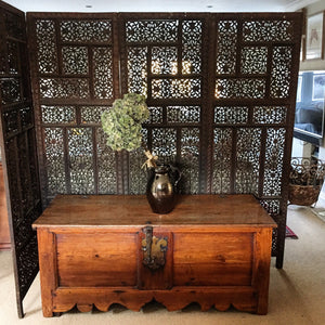 19th century Indian Fretwork Screen
