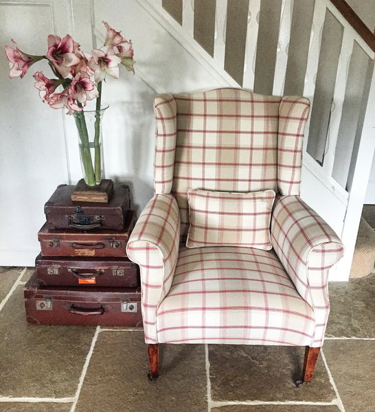 Antique Edwardian Wing Chair