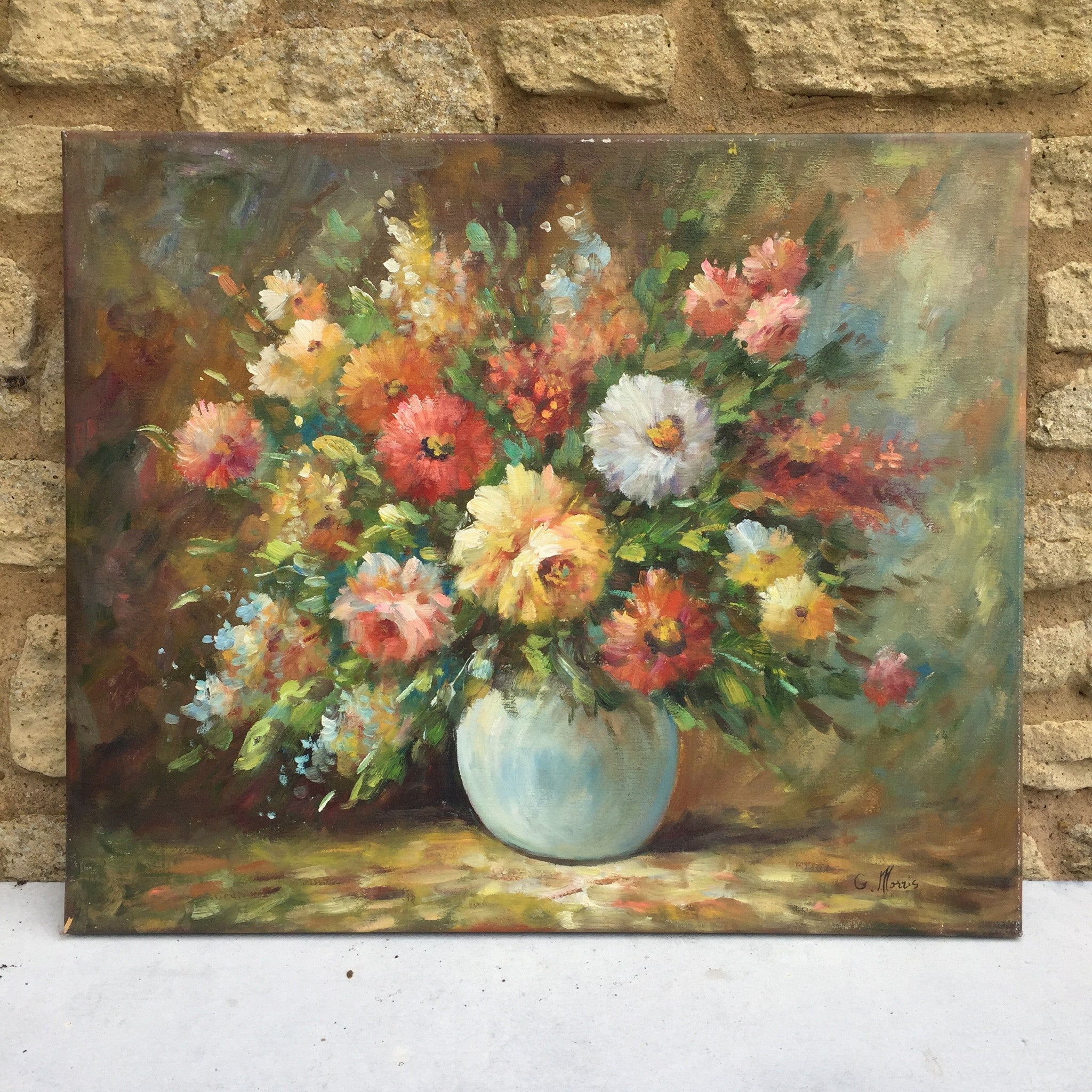 Vintage French Still Life of Flowers