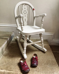 Child's/Doll's wooden rocking chair