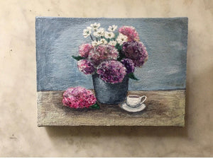 Original Miniature Still Life painting.