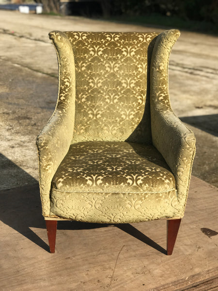19th century Edwardian 'His' fireside chair.