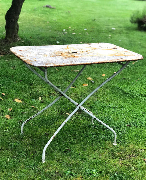 Late 19th century folding French Bistro table