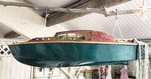 1940's Wooden Model Yacht with original paint.
