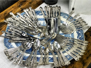 Early 20th century Mappin & Webb cutlery.
