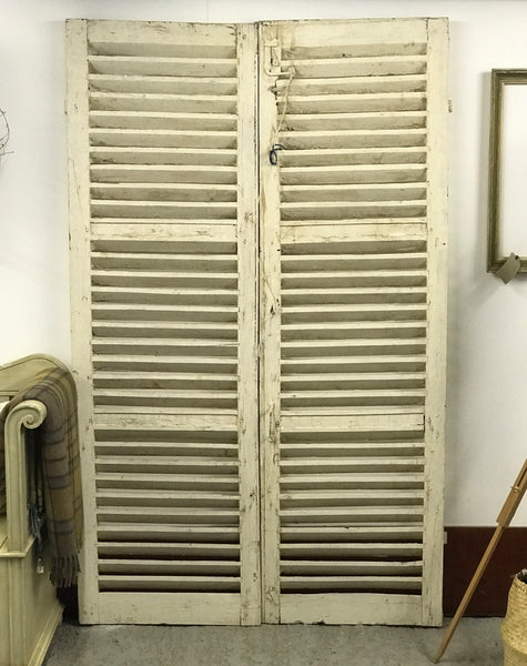 19th century French louvered shutters.