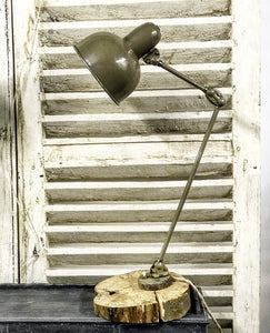 1930's French Industrial machinist's lamp.