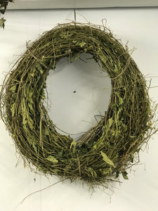 Handmade Hop twig wreath.