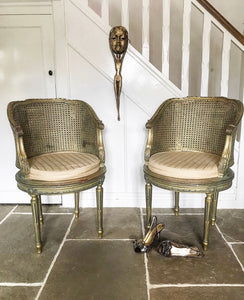 Early 20th century French Gilt Berger Chairs