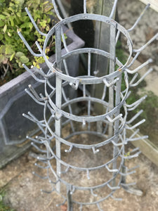 Vintage French Zinc Bottle Dryer
