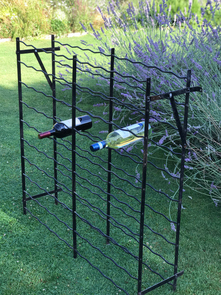 Late 19th century French Wrought Iron Wine Rack