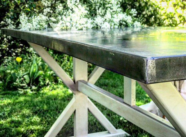Bespoke Zinc top Dining Table