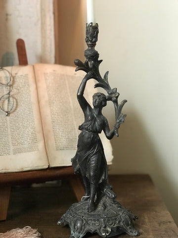 19th century French Liberté Candle Stick