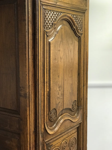 19th century French Oak Bonnetiere Armoire.