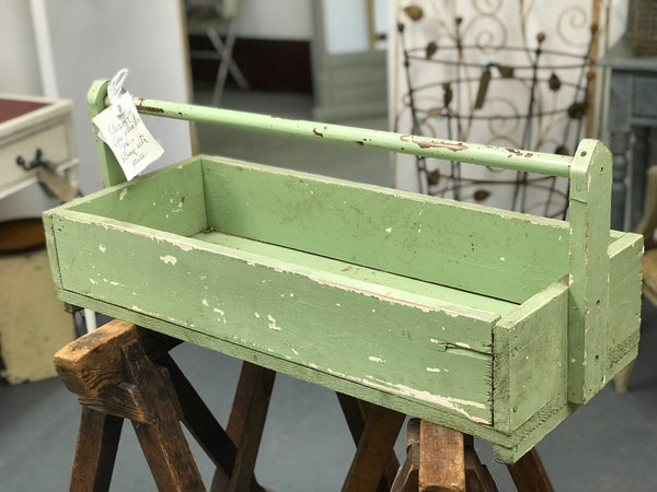 1960's Large Wooden Trug with original paint.